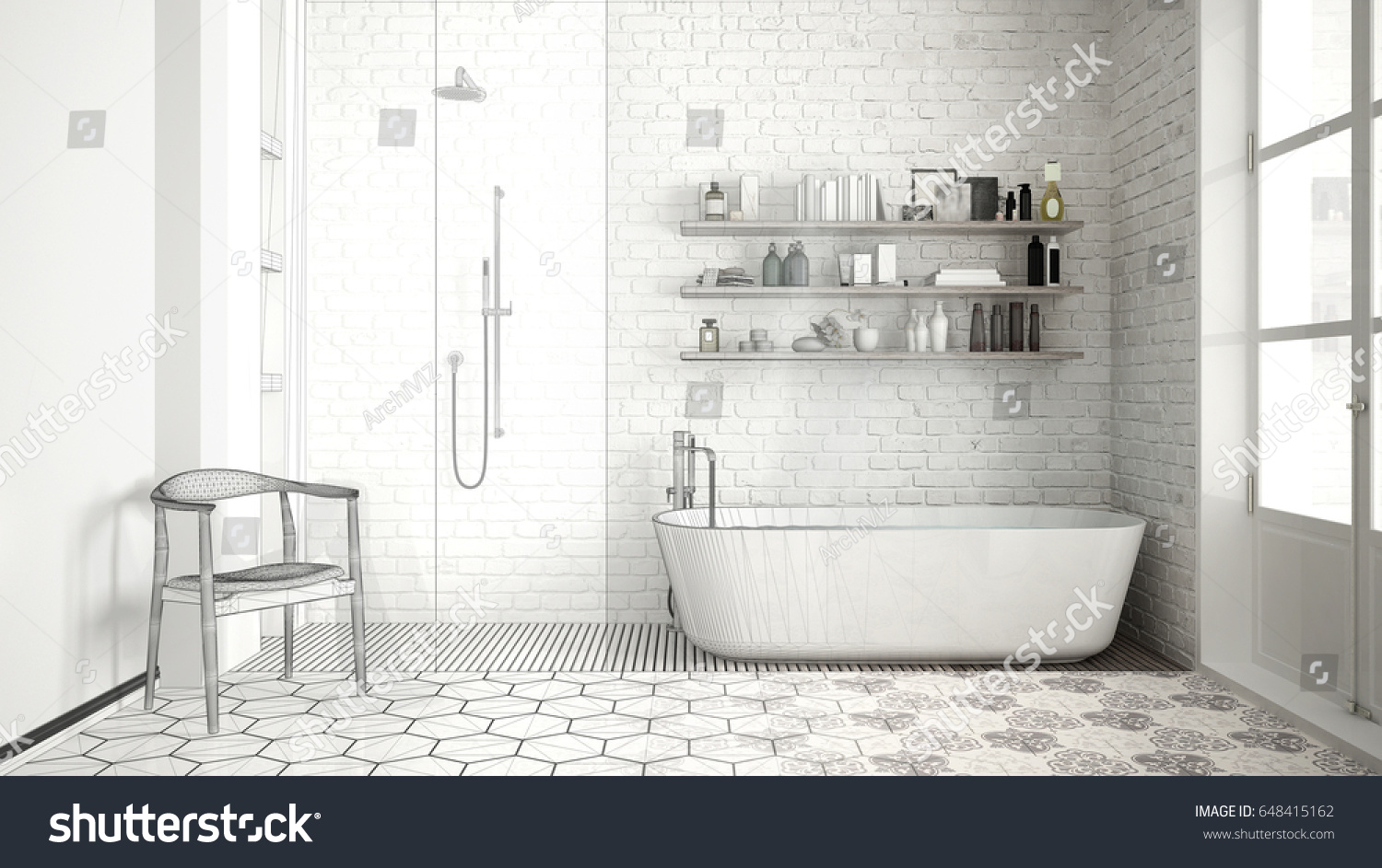 Royalty Free Stock Illustration of Unfinished Project Scandinavian ...