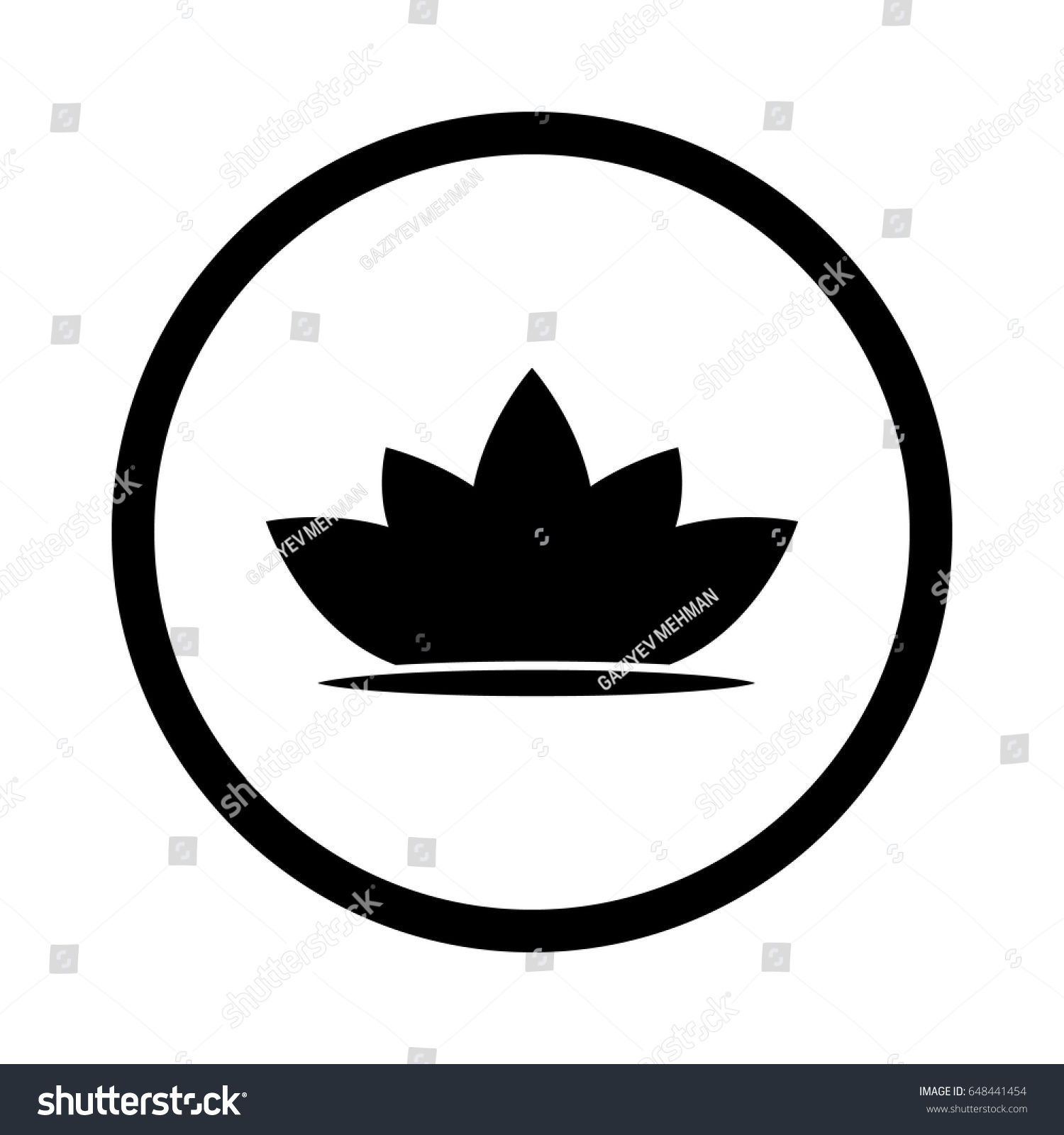 Lotus Flower Logo Abstract Beauty Spa Stock Vector Royalty Free