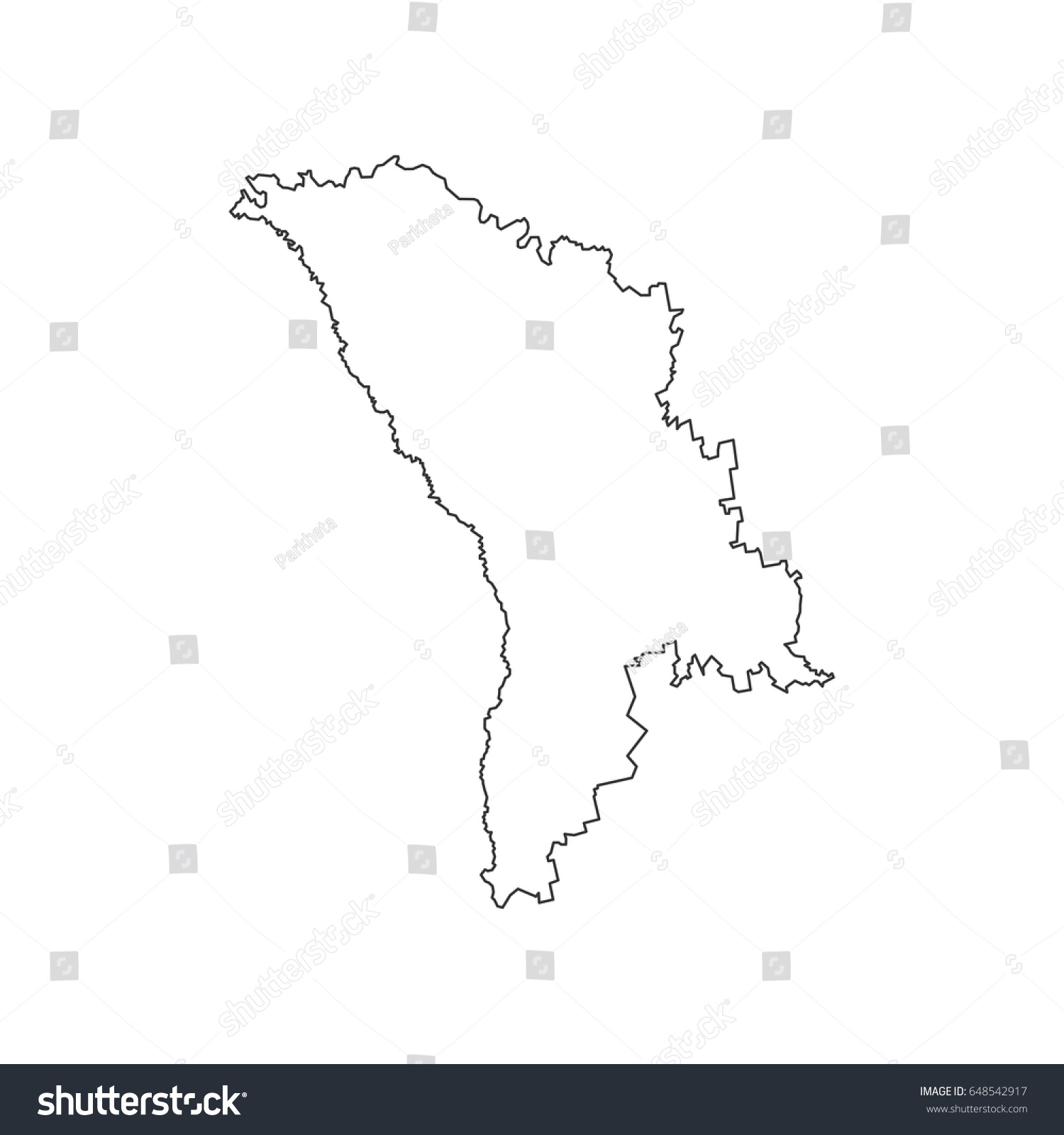 Moldova Map On White Background Vector Stock Vector - Moldova map vector
