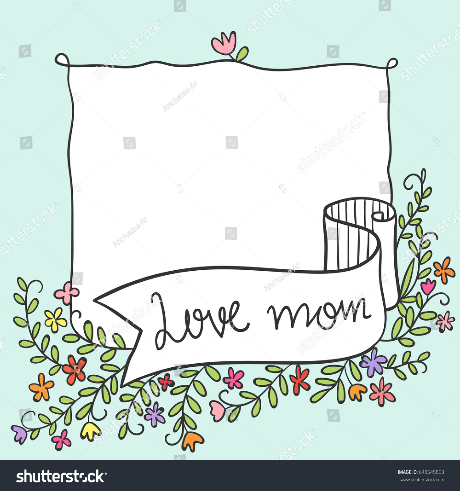 Cute draw vector illustration greeting card stock photo photo cute draw vector illustration greeting card for mother day beauty flowersodle style m4hsunfo