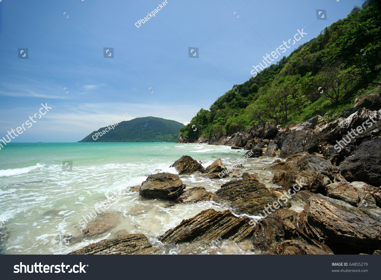 Khanom (Nakhon Si Thammarat) Thailand  city photo : Rock Beach In Khanom Bay, Gulf Of Thailand Coast, Nakhon Si Thammarat ...