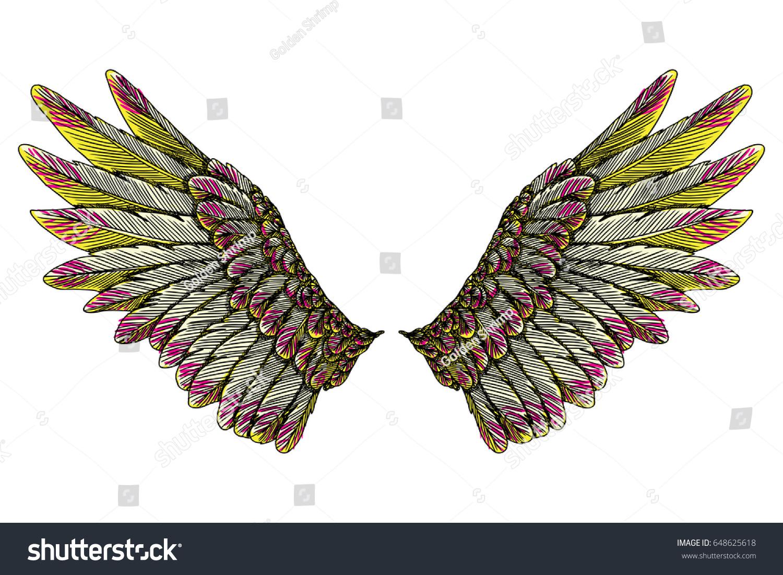 Sacred angel bird wings symbolism lightness stock vector 648625618 sacred angel or bird wings symbolism of lightness spirituality heaven and imagination buycottarizona
