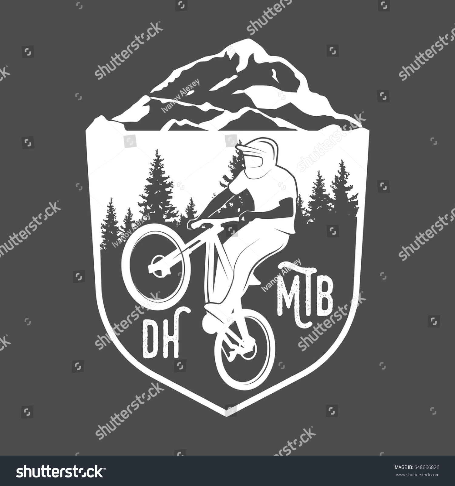 Vintage Modern Bicycle Shop Logo Badges Stock Vector 648666826