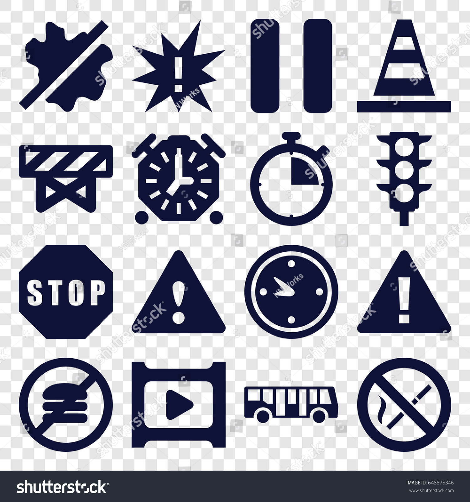 Stop icons set set 16 stop stock vector 648675346 shutterstock stop icons set set of 16 stop filled icons such as airport bus barrier biocorpaavc