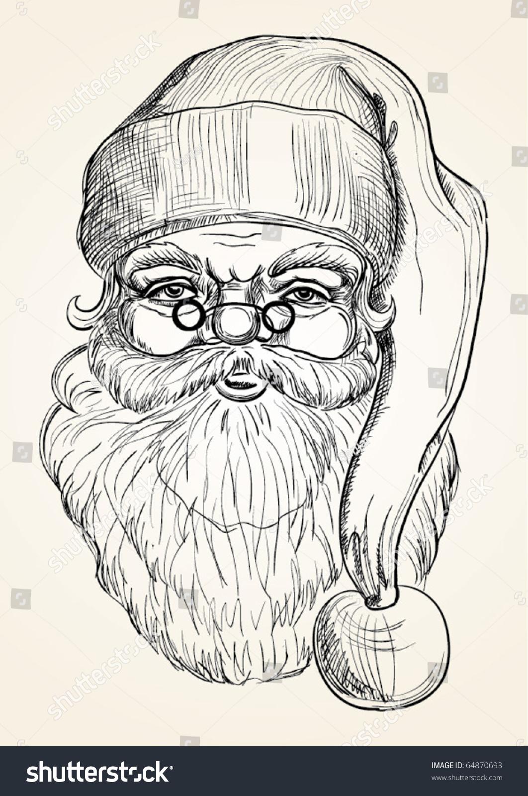 Hand Drawing Santa Claus