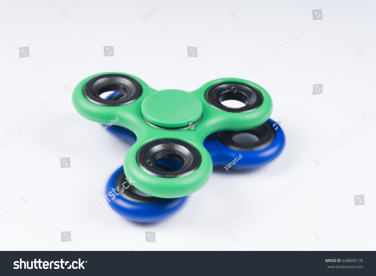 Group Fidget Spinner Stress Relieving Toy Stock Photo (Edit