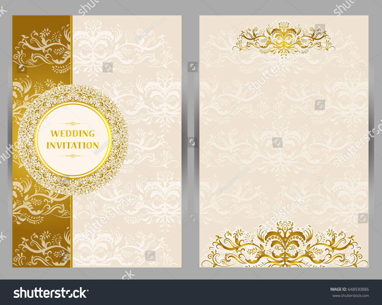 Wedding Invitation Card Abstract Background Islam Stock Vector