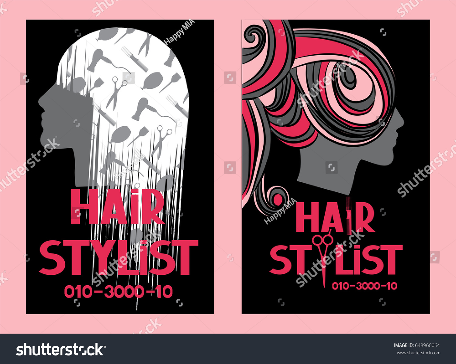 Hair stylist business cards ideas image collections free hairstylist business cards womans head silhouette stock vector hairstylist business cards with womans head silhouette and magicingreecefo Choice Image