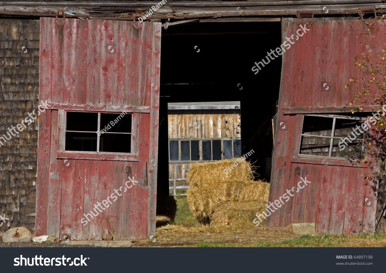 Old Barn Doors Stock Photo 64897198 - Shutterstock