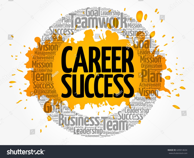Career Success Word Cloud Collage Business Vector de stock (libre de ...