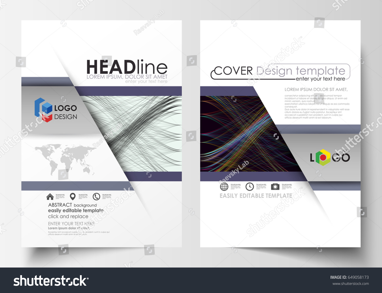 Business Templates Brochure Magazine Flyer Annual Stock Vector - Easy brochure template