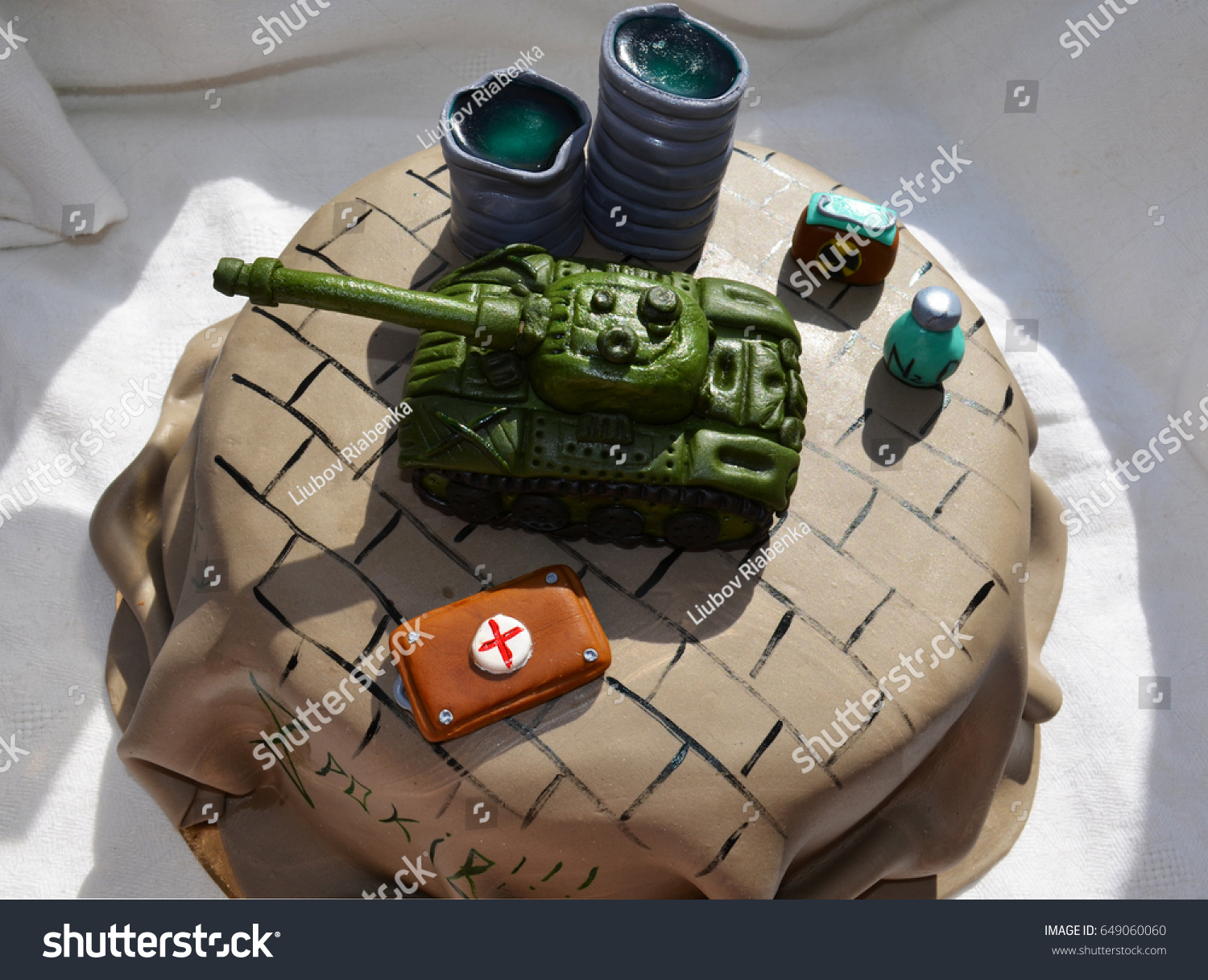 Remarkable Cake Military Theme Stock Photo Edit Now 649060060 Personalised Birthday Cards Paralily Jamesorg