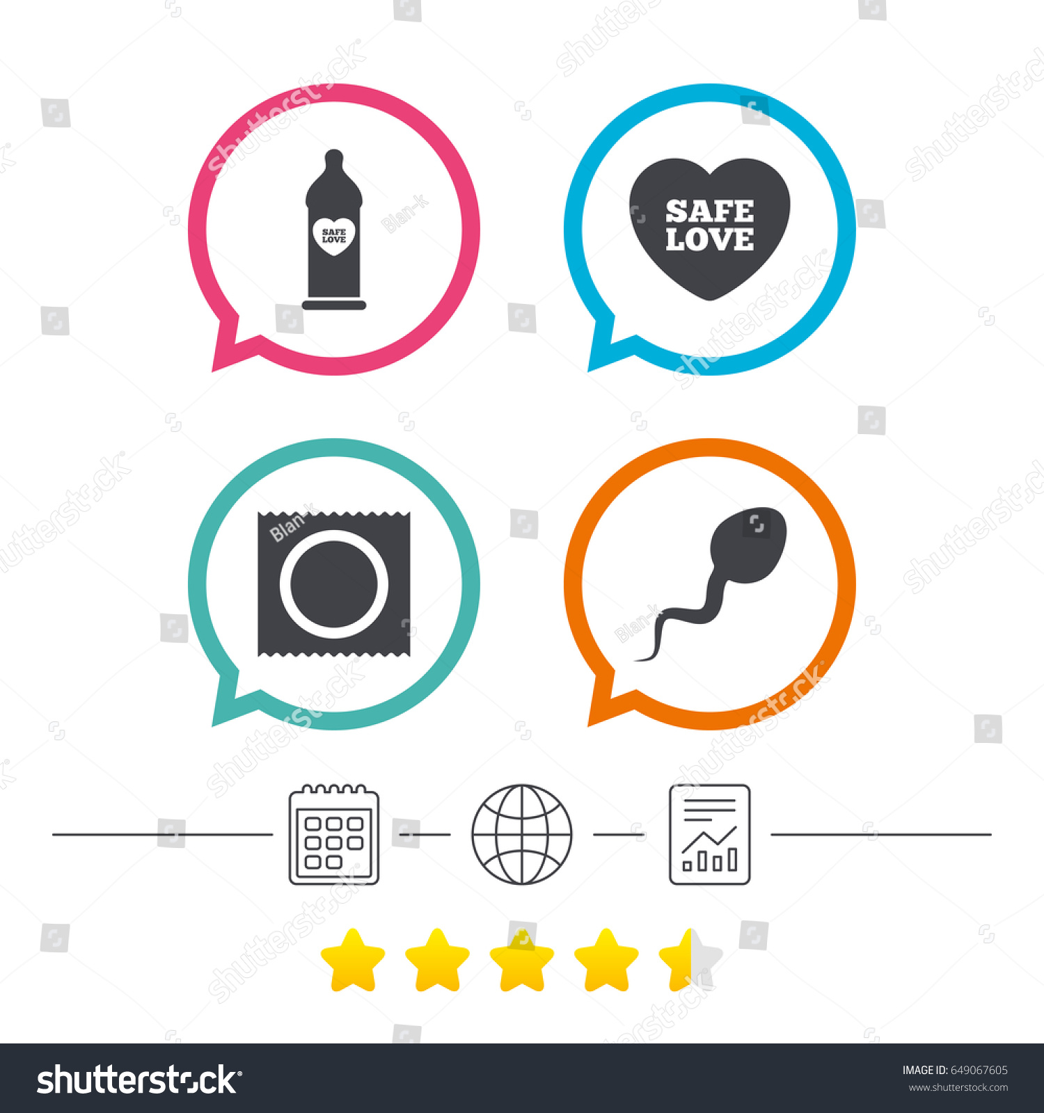 Safe sex love icons condom package stock vector 649067605 safe sex love icons condom in package symbol sperm sign fertilization or insemination buycottarizona