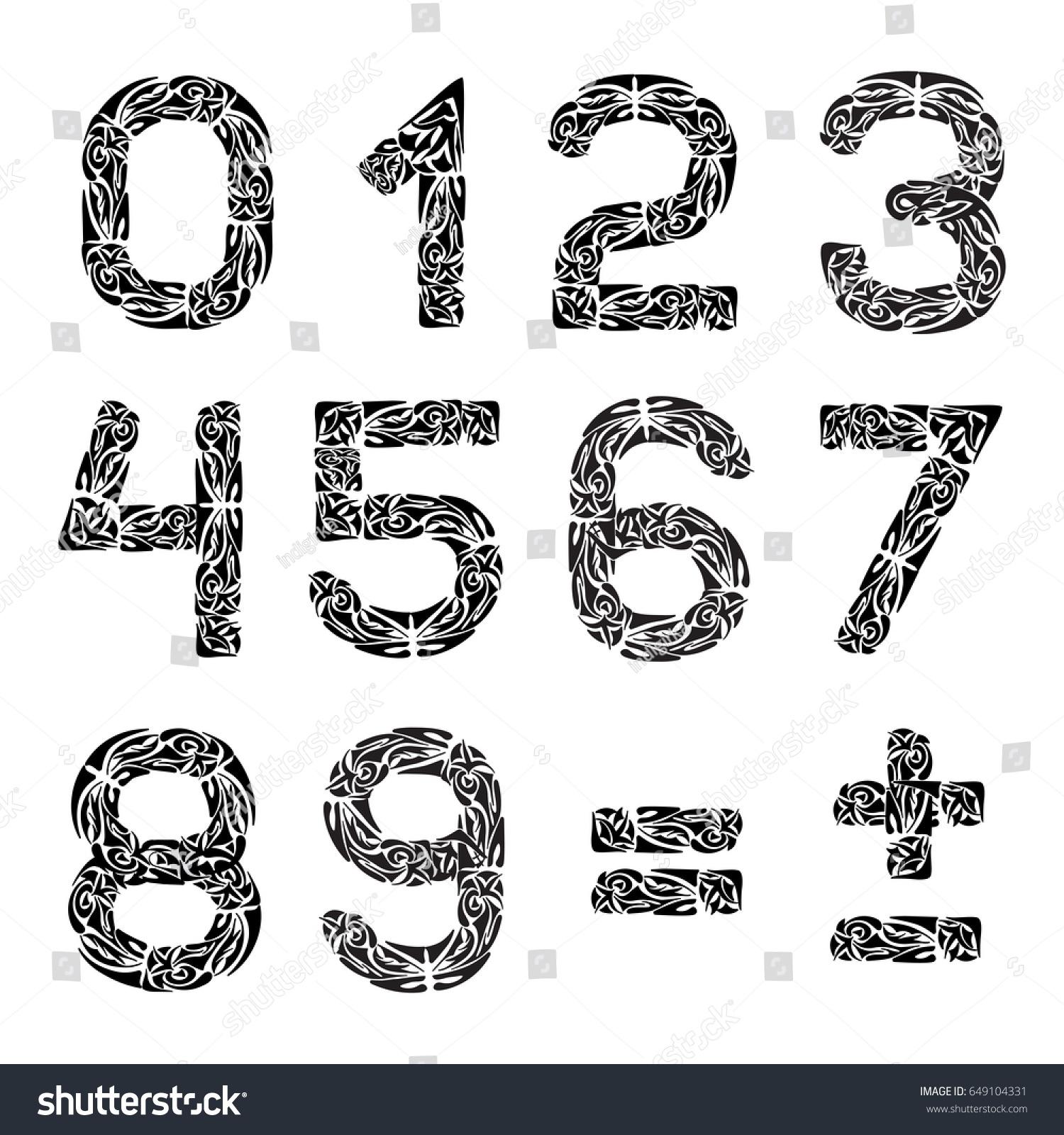 Math Symbols Your Design Polynesian Pattern Stock Vector Royalty