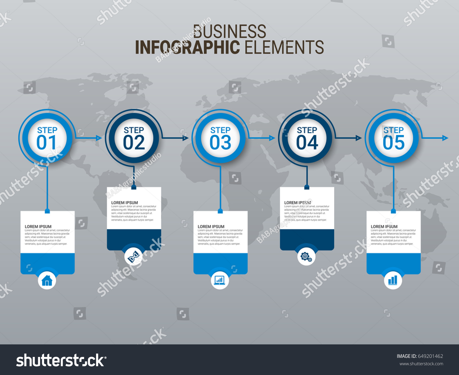 Infographic elements template pack 01 download