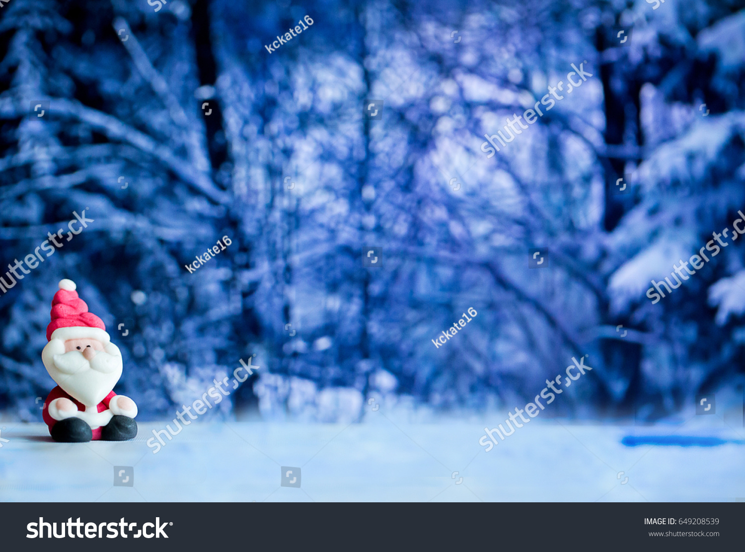 Santa Claus Doll House Background Colorful Christmas Stock Photo
