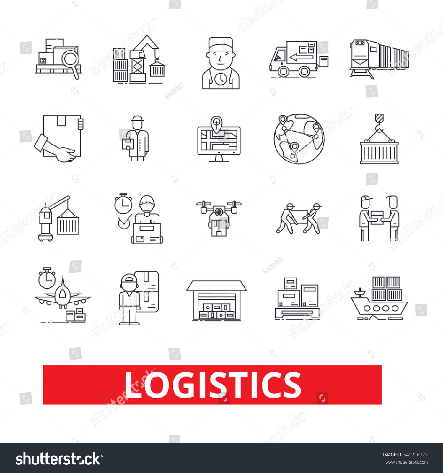 Logistics Calendar Design : Logistics transportation warehouse supply chain truck