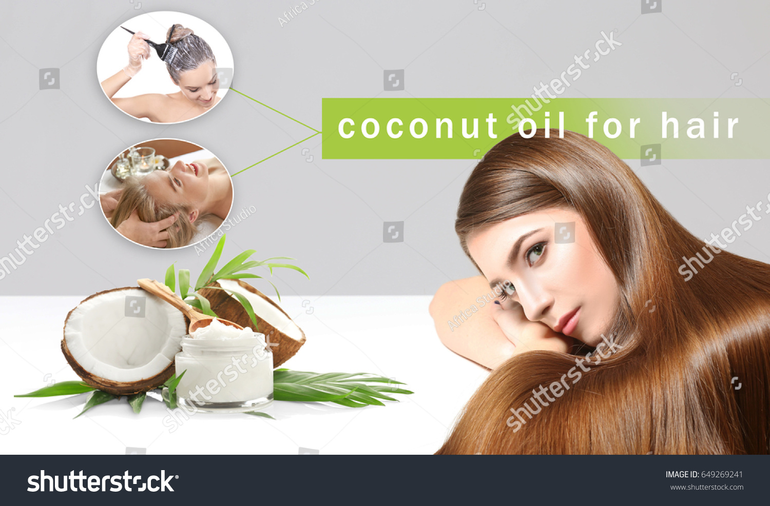 Coconut Oil Hair Young Women Cosmetic Stock Photo Edit Now