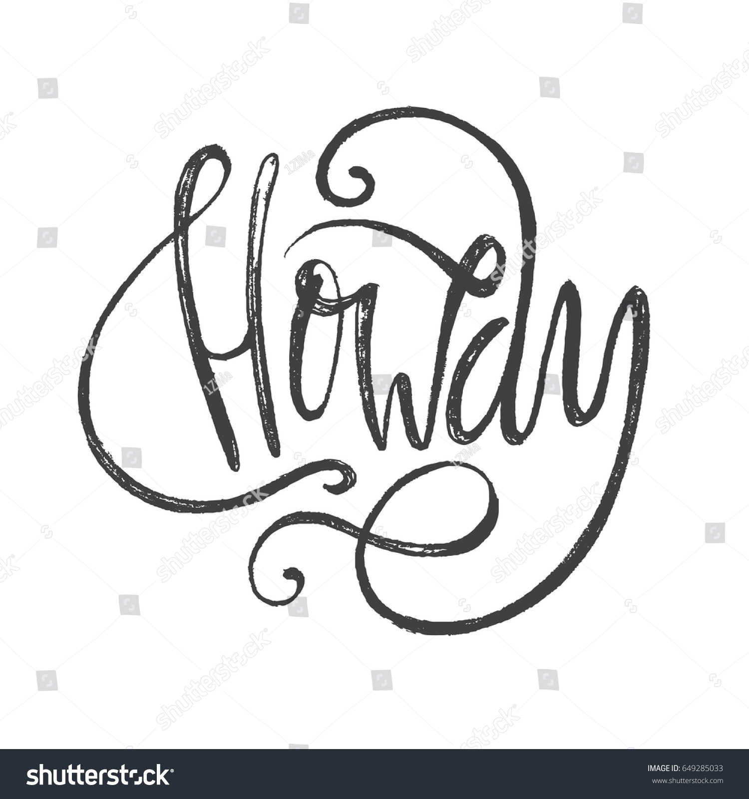 Howdy Slang Lettering Greeting Words Hand Stock Vector Royalty Free
