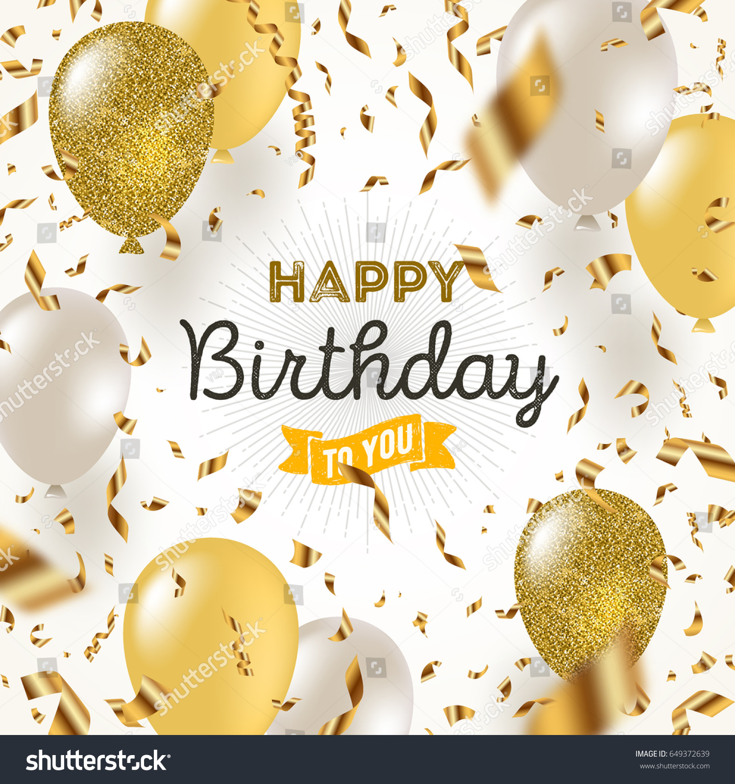Happy birthday vector illustration golden foil stock vector 649372639 shutterstock