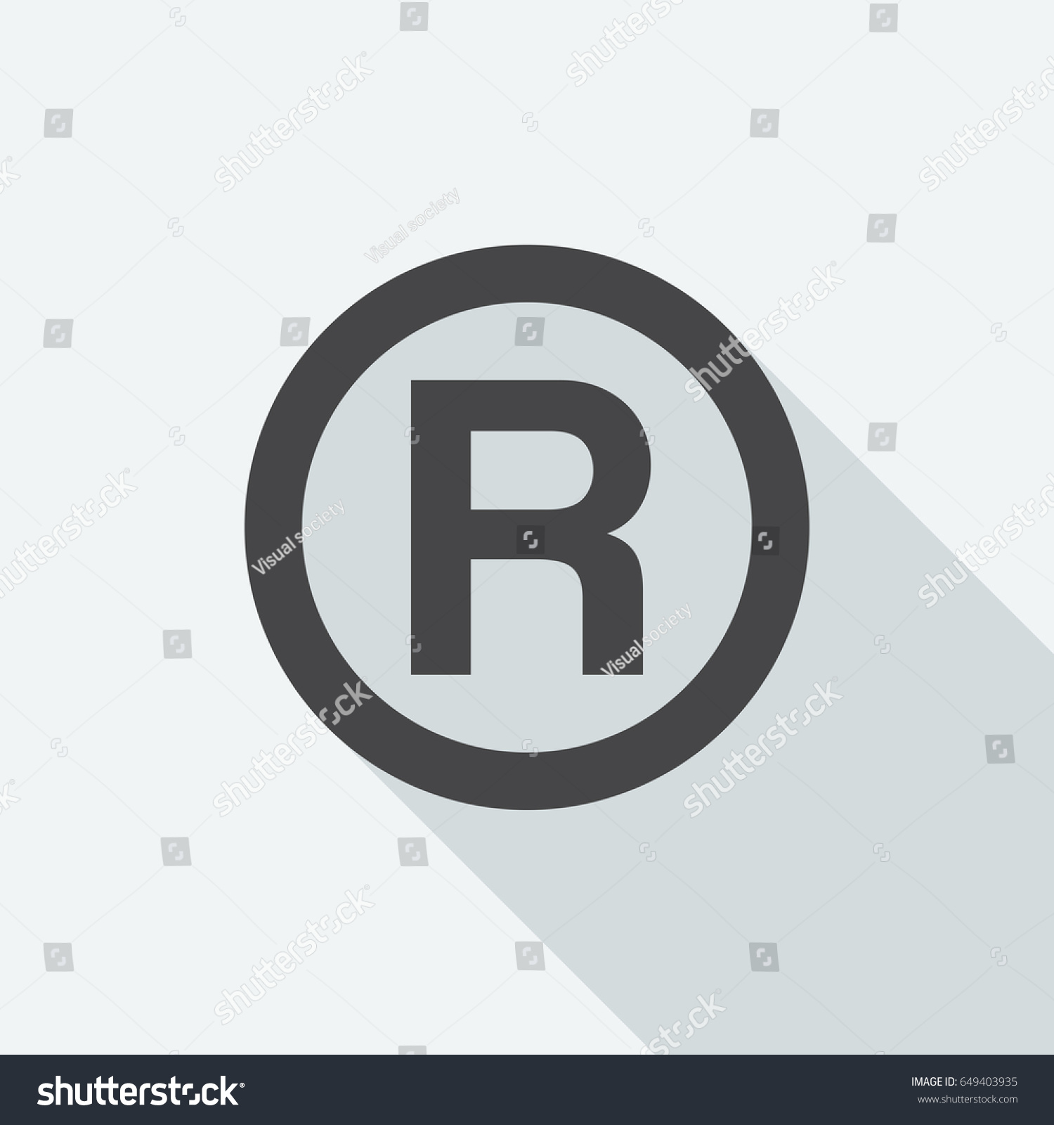 R registered trademark symbol long shadow stock vector 649403935 r registered trademark symbol with long shadow on white background black symbol in a biocorpaavc Gallery