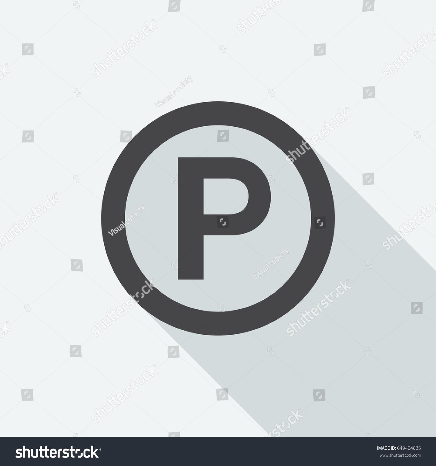 P Sound Recording Copyright Symbol Long Stock Vector Royalty Free