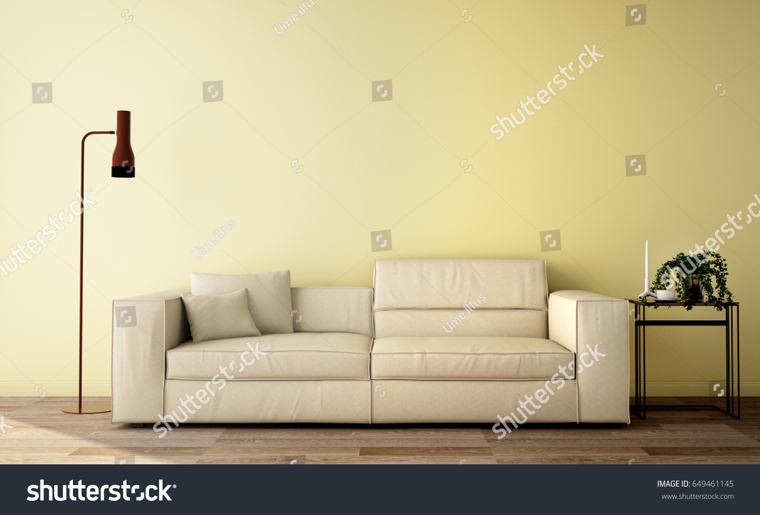 Interior Design ,living Room Design In Modern Style And Minimalism Style  Background With Sofa,