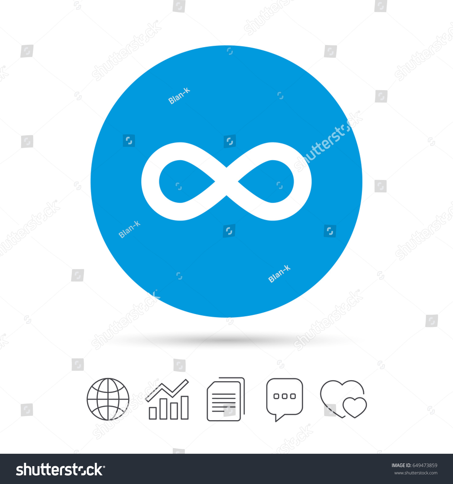 Limitless Sign Icon Infinity Symbol Copy Stock Vector Royalty Free