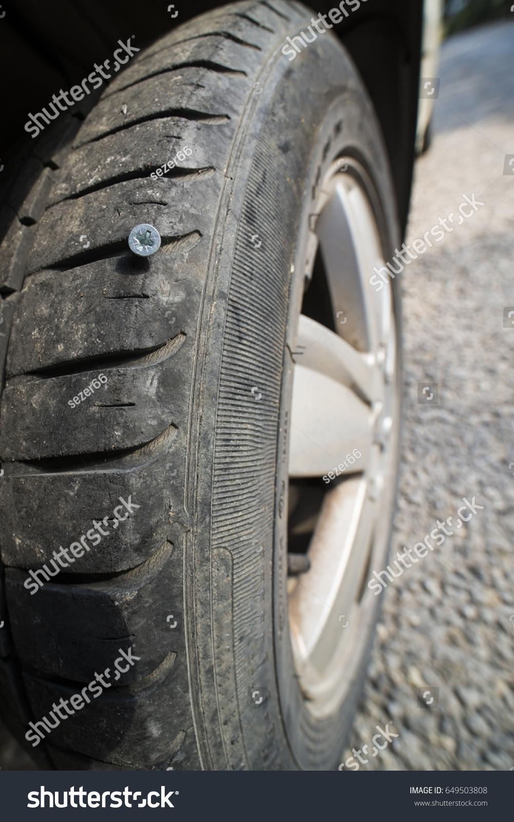 Tire Tread Nail Stock Photo (Royalty Free) 649503808 - Shutterstock