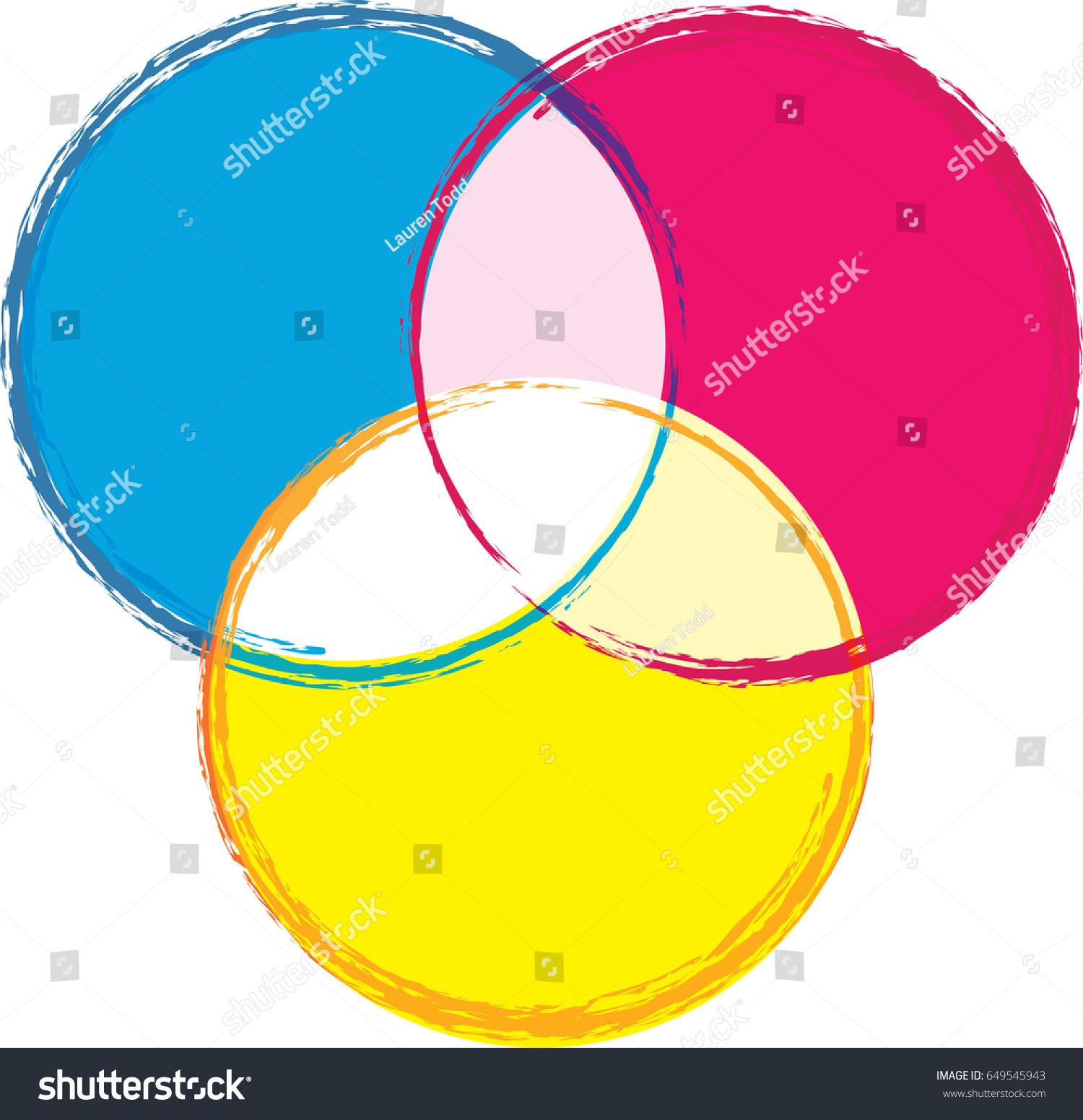 Venn diagram bright primary colors stock vector 649545943 venn diagram in bright primary colors pooptronica Choice Image