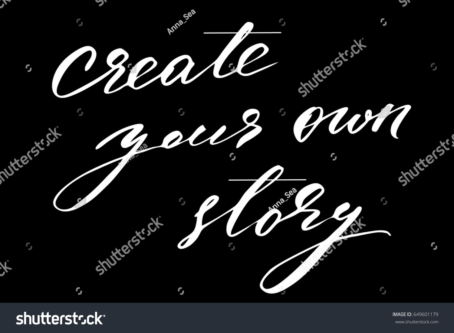 Create Your Own Quote Quote Writing Lettering Phrase Create Your Stock Vector 649601179