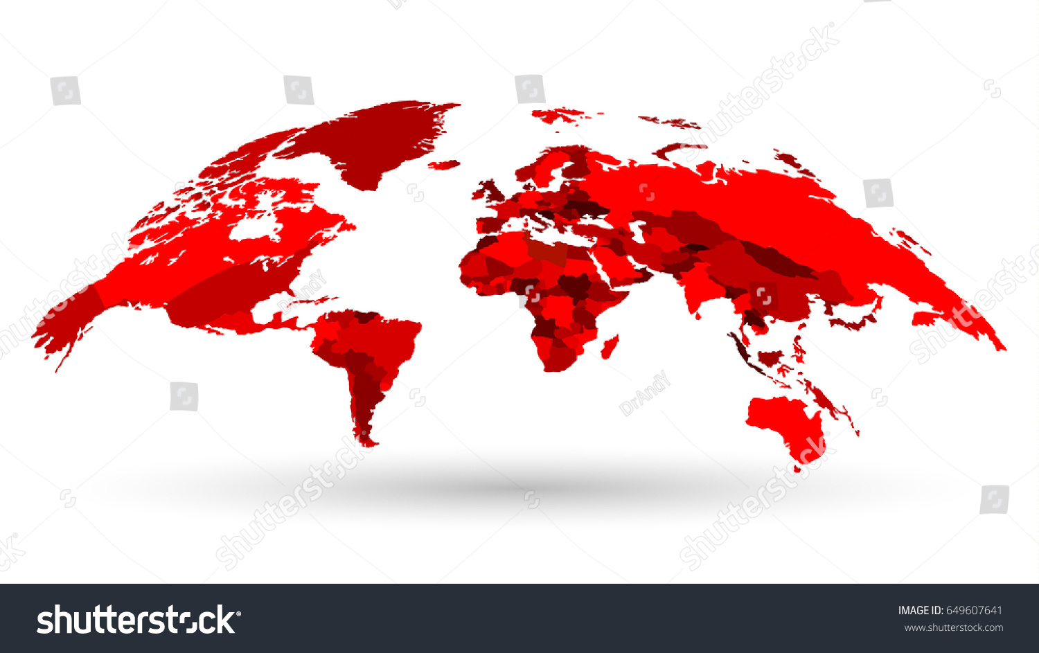 Luxury highly detailed 3 d world map stock photo photo vector luxury highly detailed 3d world map isolated on white background in shades of red vector gumiabroncs Image collections