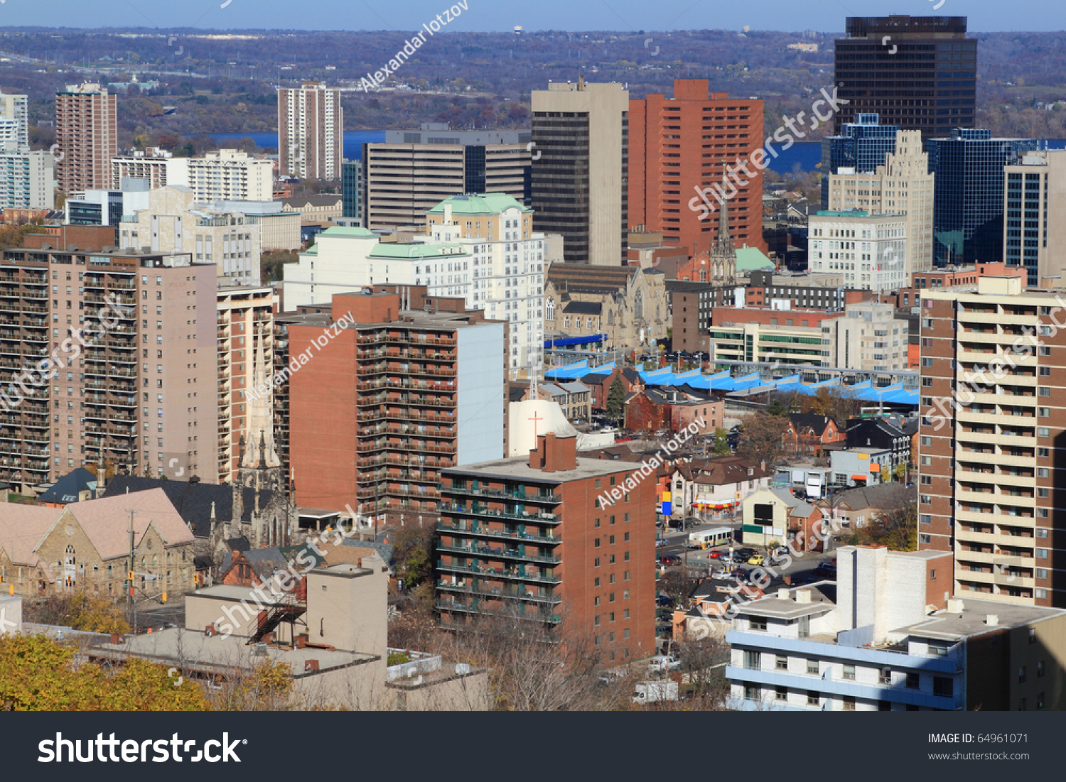 Ontario Canada Downtown Aerial View Of ...