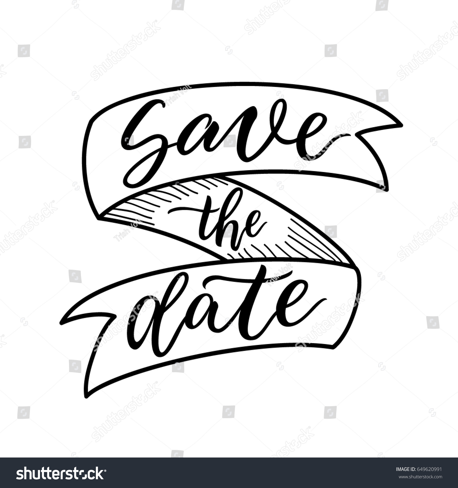 Save Date Sign Ribbon Banner Site Stock Vector 649620991 ...