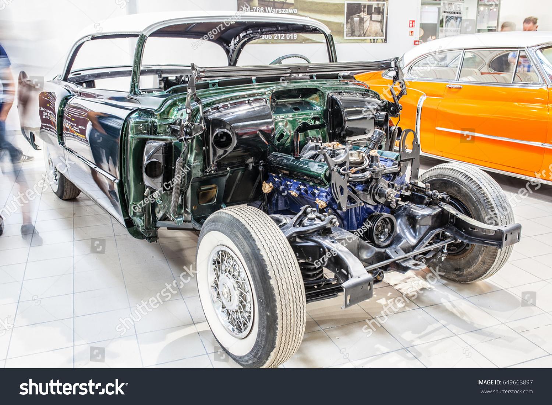 Nadarzyn Poland May 13 2017 Warsaw Oldtimer Show Cadillac Coupe 1951 Sedan Deville Id 649663897