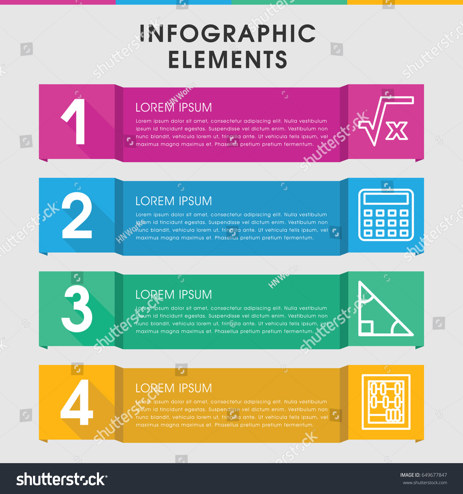 Modern Math Infographic Template Infographic Design Stock Vector ...