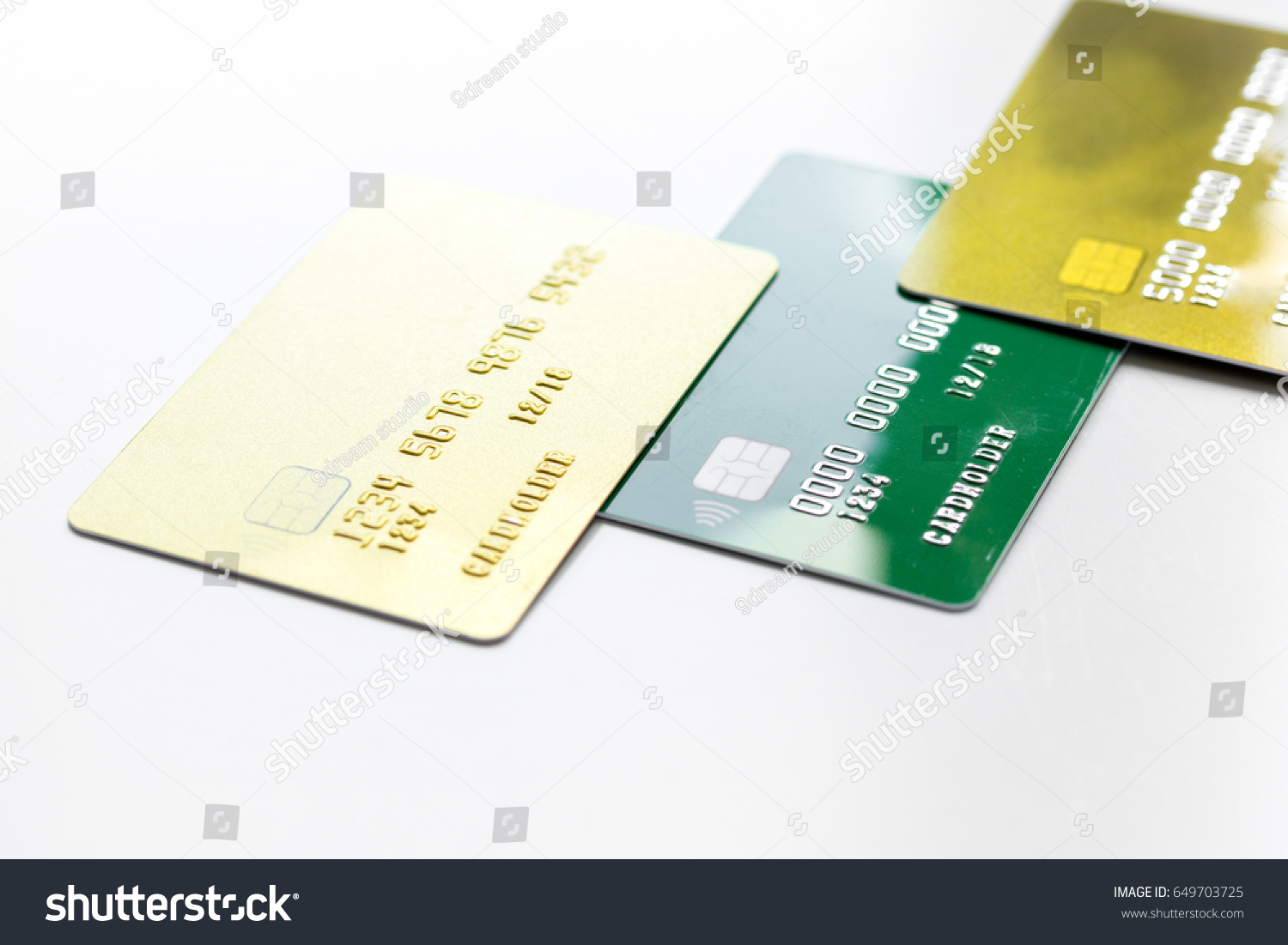 Payment Composition Business Credit Cards Work Stock Photo ...