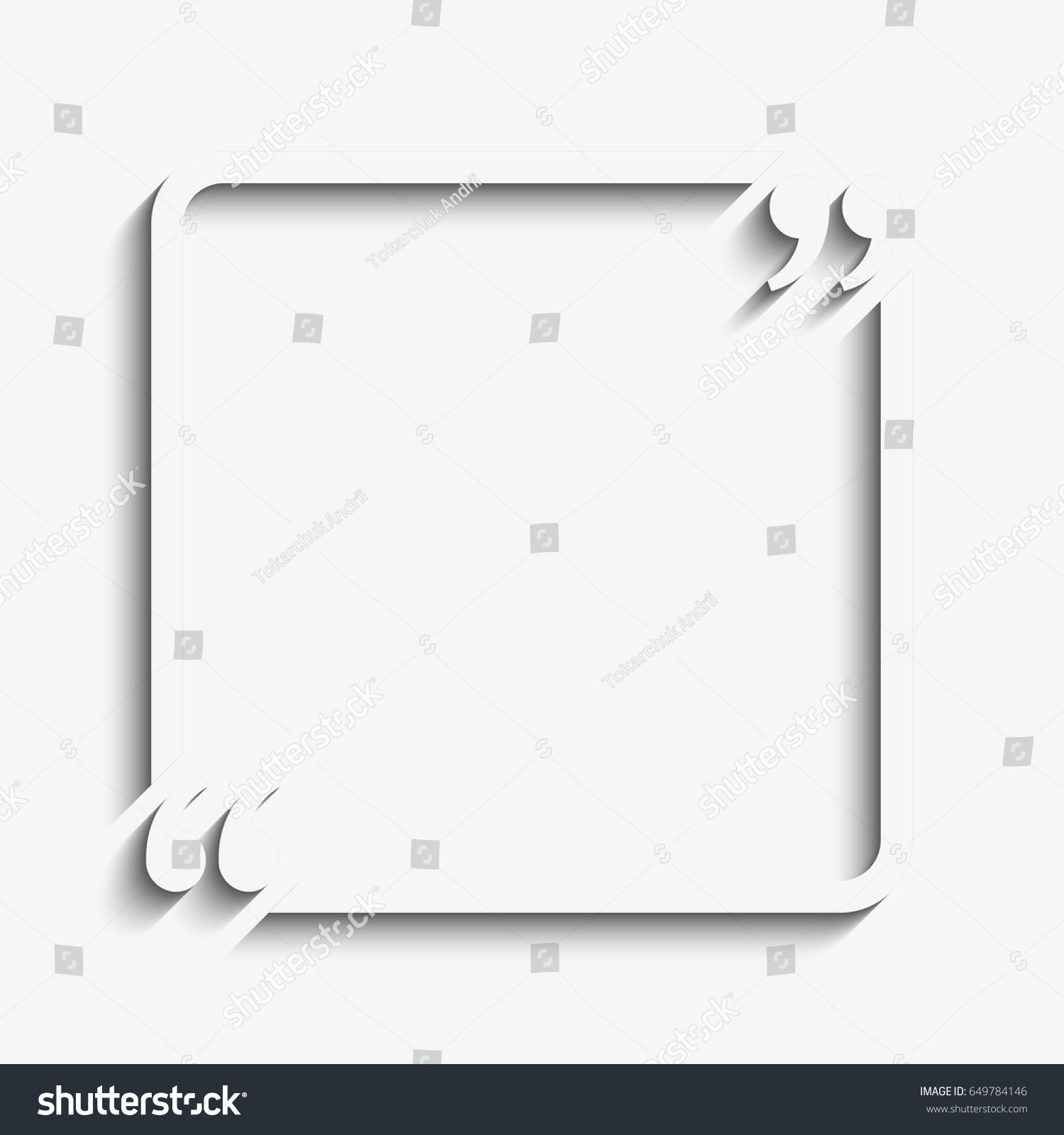 royalty free stock illustration of paper quote blank template quote