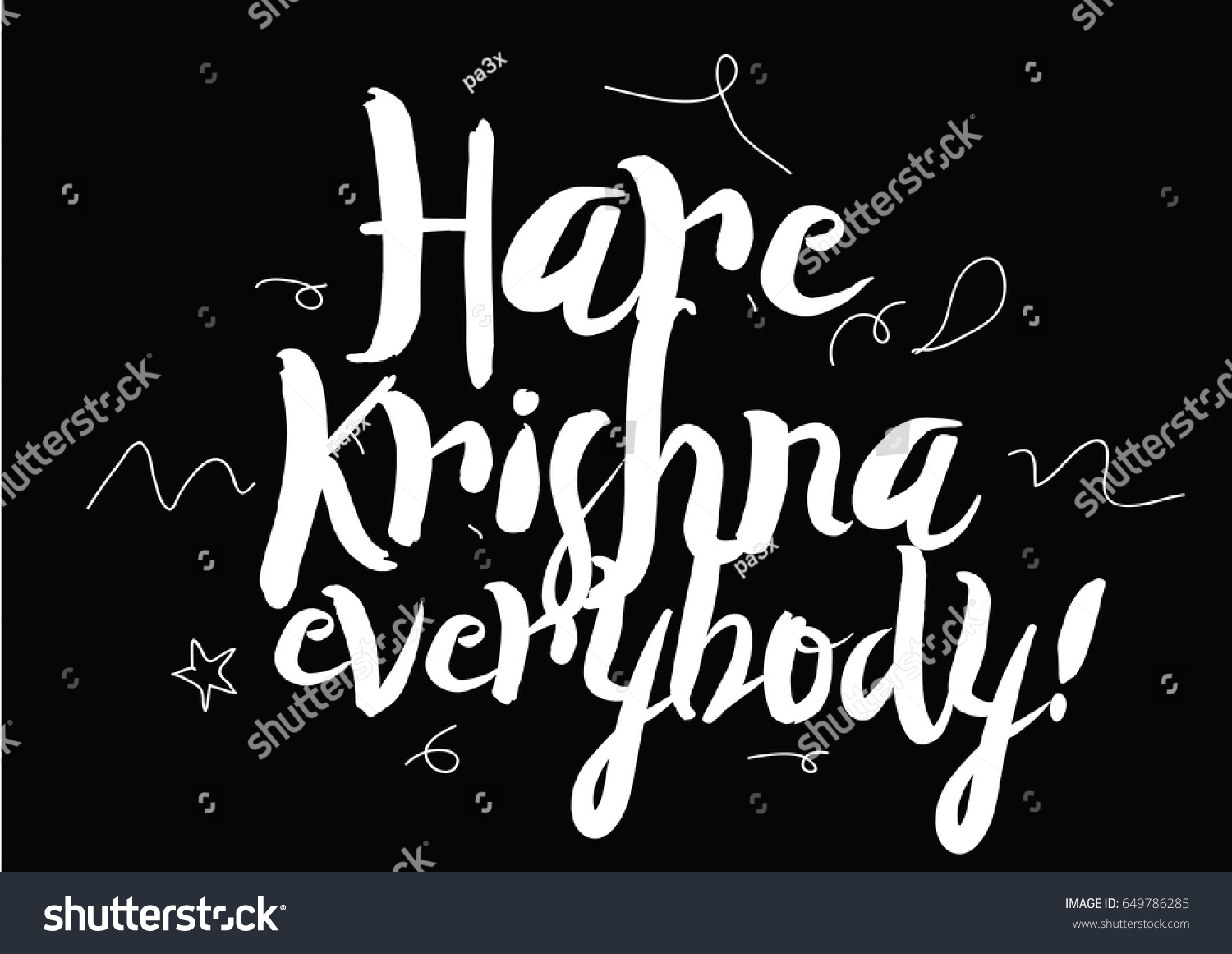 Hare krishna everybody greeting card modern stock vector 649786285 hare krishna everybody greeting card with modern calligraphy and hand drawn elements isolated typographical kristyandbryce Gallery