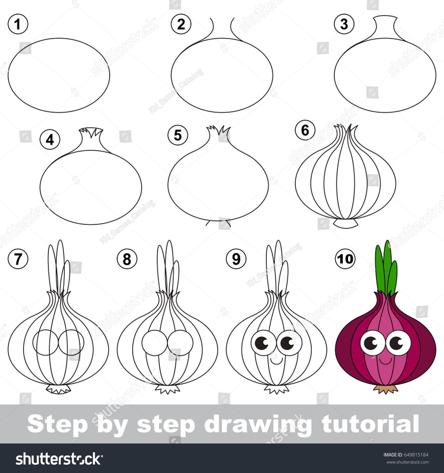Kid Game Develop Drawing Skill Easy Stock Vector 649815184 ...