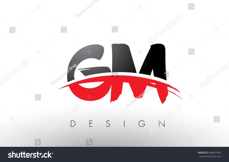 gm g m brush logo letters stock vector royalty free 649837846