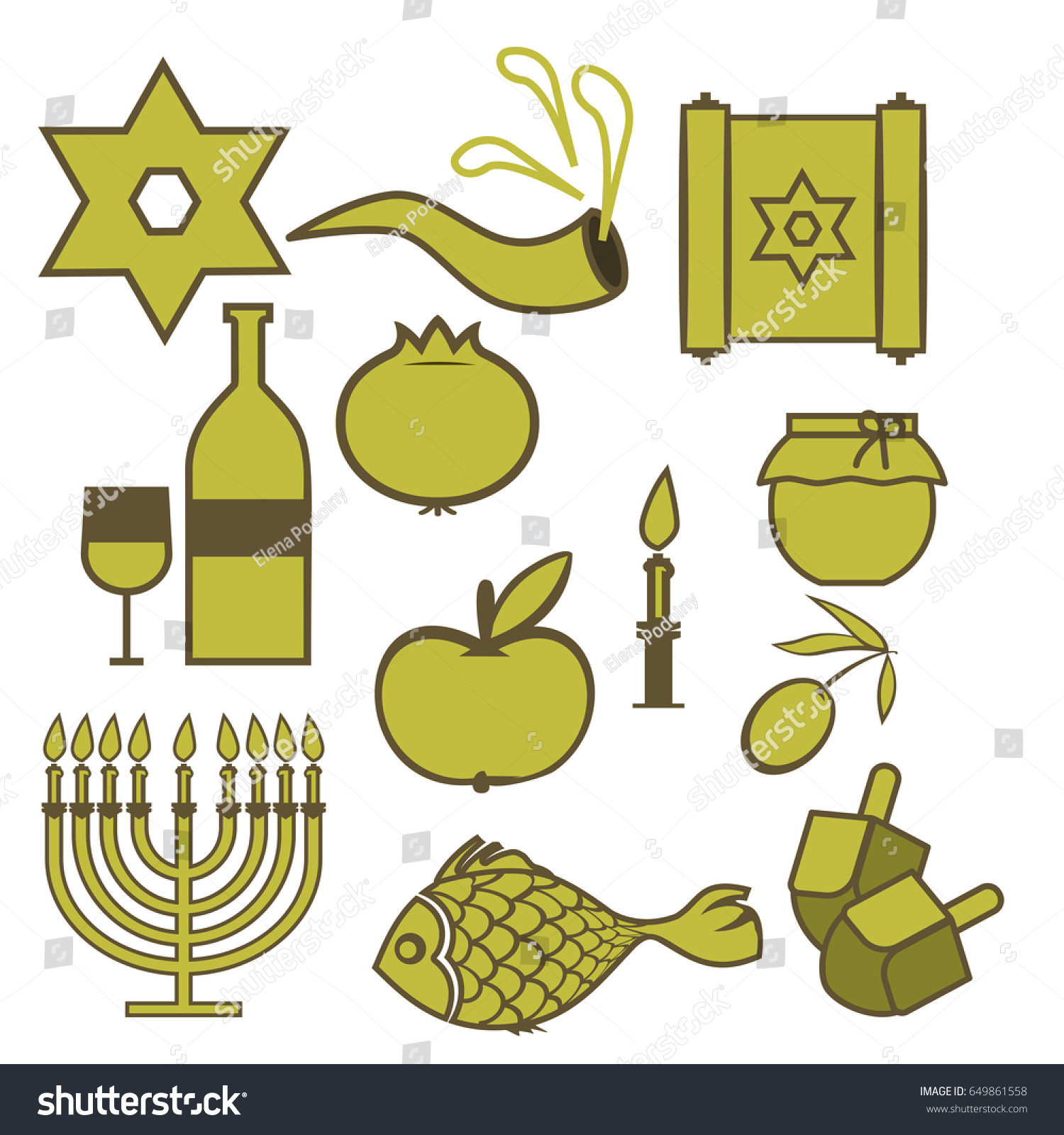 Set traditional hebrew symbols isolated symbols stock vector set of traditional hebrew symbols isolated symbols of jewish holidays on a white background biocorpaavc