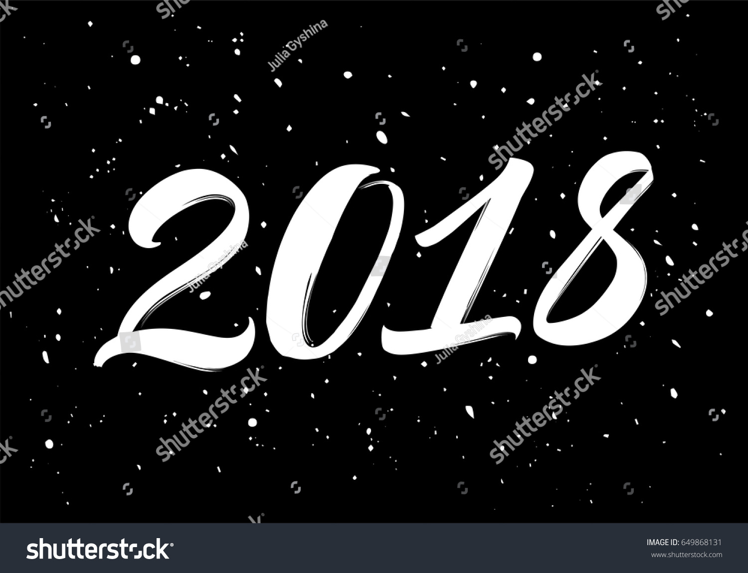 Hand drawn vector illustration 2018 year stock vector 649868131 hand drawn vector illustration of the 2018 year lettering for greeting card calendar kristyandbryce Images