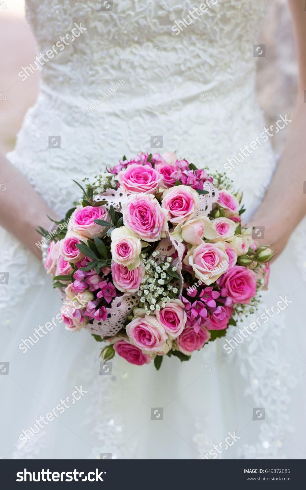 Beautiful Bride Flowers Bouquet Bride Holding Stock Photo Edit Now
