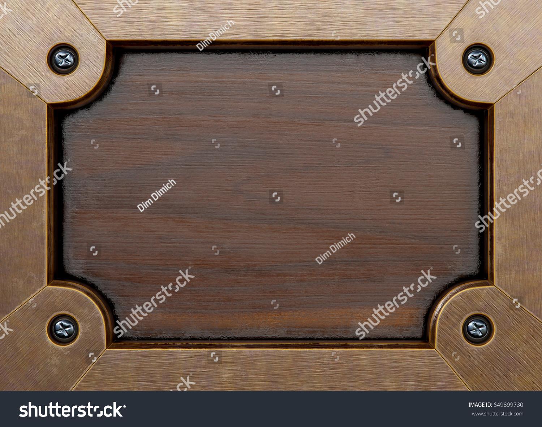 Old Wooden Frame Blackboard Menu Board Stock Illustration 649899730 ...