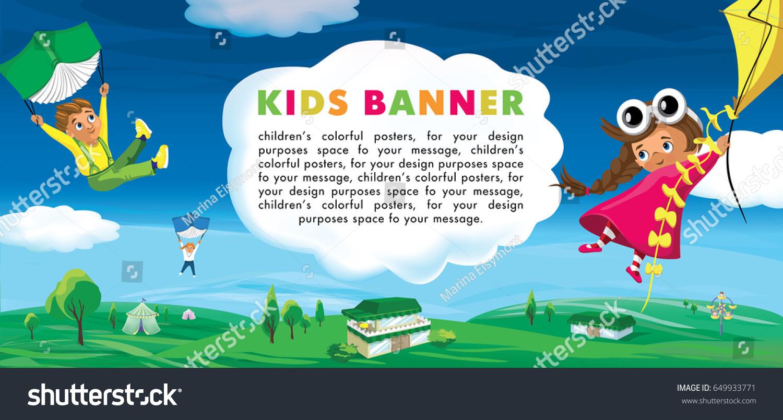 Summer Kids Template Advertising Brochure Your Vectores En Stock ...