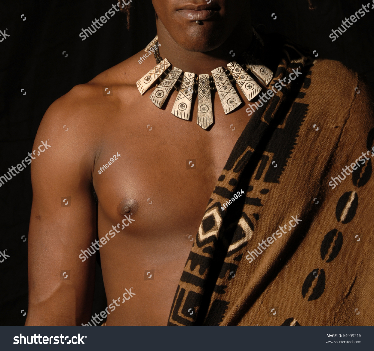 Muscular Chest African Boy Stock Photo Royalty Free 64999216