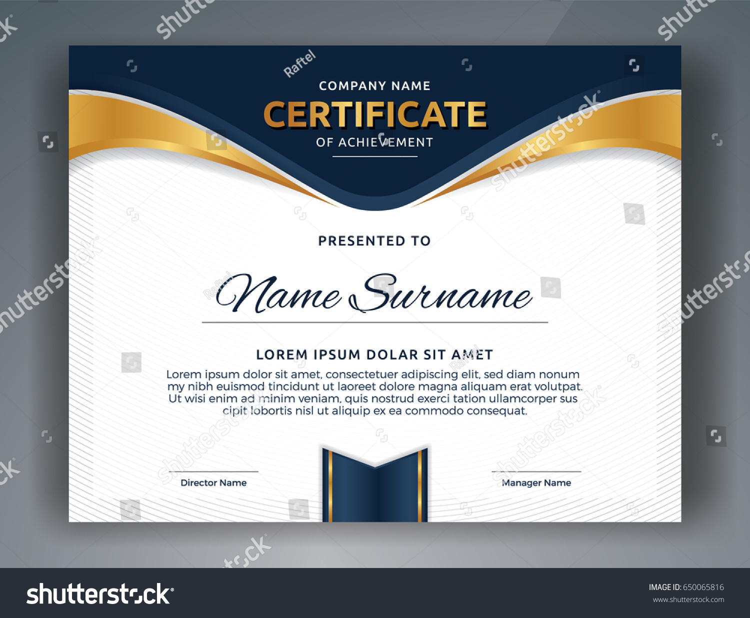 Multipurpose Professional Certificate Template Design Print Vector ...
