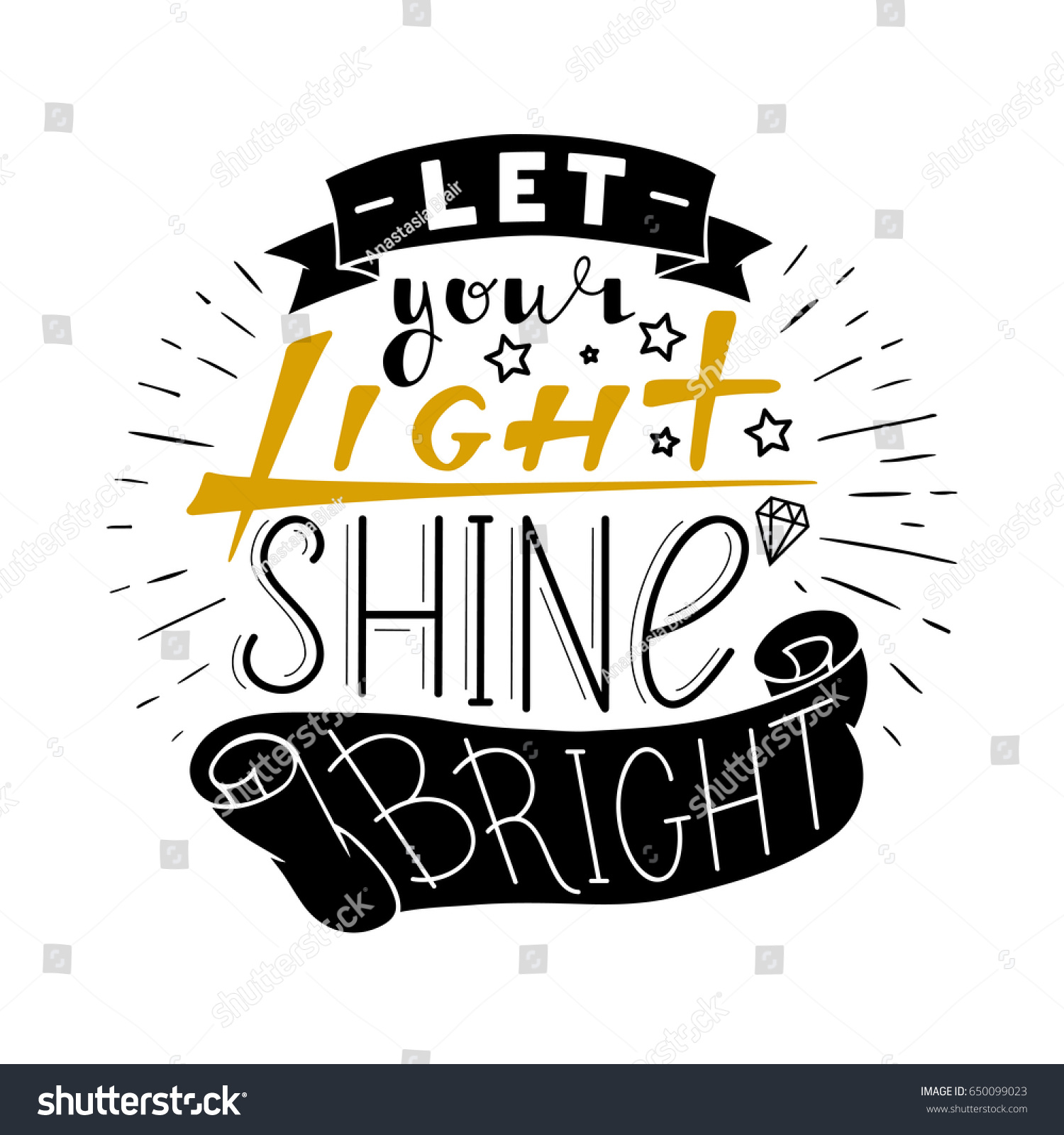 Let Your Light Shine Bright Hand Stock Vector (Royalty Free
