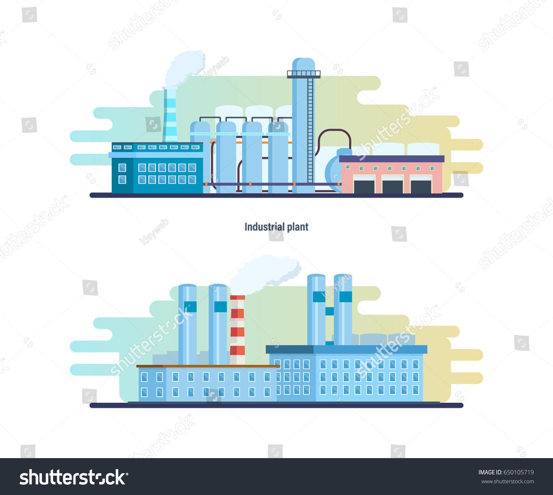 Buildings Industrial Chemical Plants Stations Reactors Stock